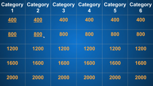 Google Slides - Jeopardy Board