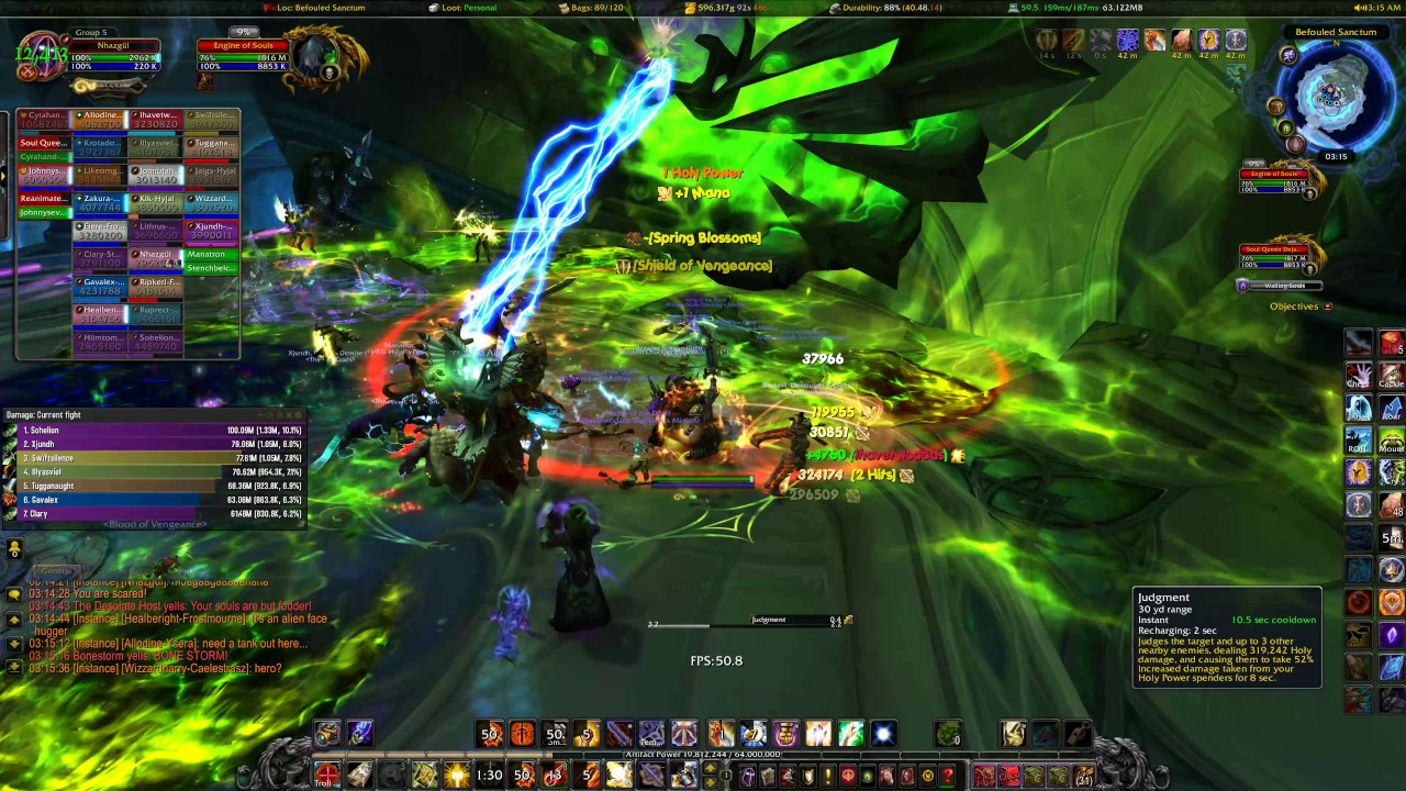 A raid in the MMORPG World of Warcraft